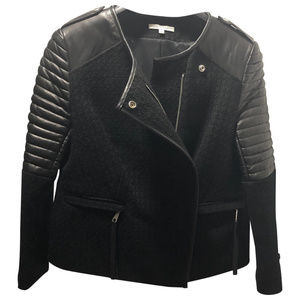 Rebecca Minkoff Lambskin Leather and Wool Jacket
